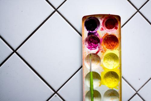 Colour Dye Art Painting (action, artwork) Dry Painting (action, work) Painting and drawing (object) Tile Draw Artist Painter Paintbrush Versatile Dried up