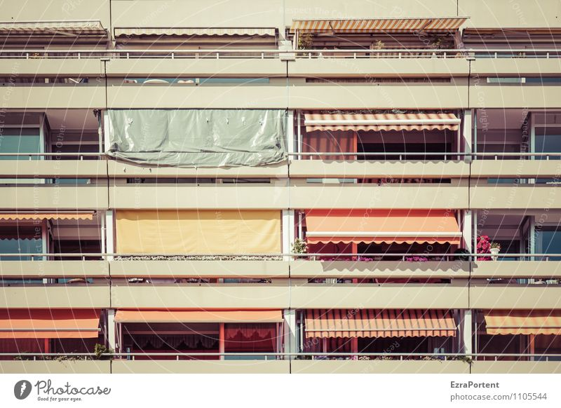 Balconies II Sun Sunlight Spring Summer Climate Beautiful weather Town House (Residential Structure) Manmade structures Building Architecture Facade Balcony