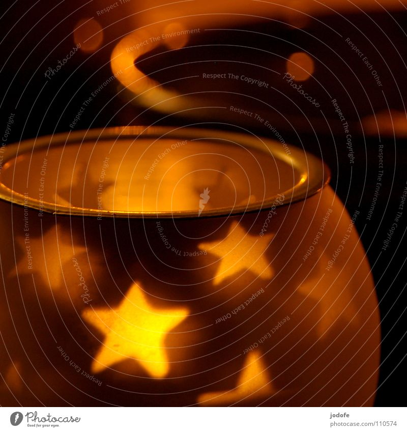 *star hour* Bowl Calm Winter Decoration Warmth Candle Glass Glittering Dark Together Bright Yellow Moody Safety (feeling of) Peaceful Tea warmer candle Lighting