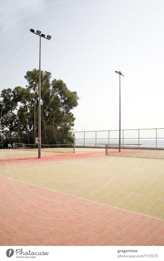 tennis court on cyprus Cyprus Tennis court Ocean Floodlight Ball sports limassol sea