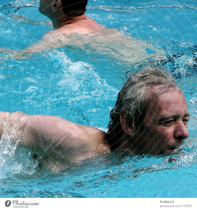 Man Water Blue Summer Hair and hairstyles Head Waves Arm Masculine Wet Swimming pool Turquoise Sunbathing Aquatics Crawl (swim)