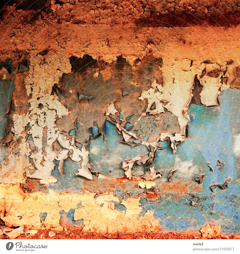 Old Dye Metal Transience Change Derelict Decline Rust Trashy Bizarre Destruction Flake off Work of art Abrasion Play of colours Crust