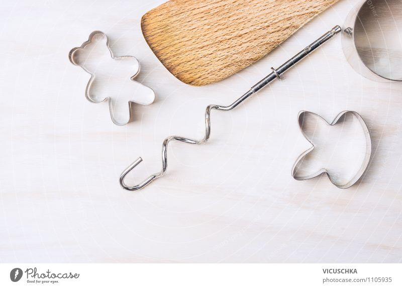 Baking utensils for baking cookies Dough Baked goods Dessert Style Design Table Kitchen Feasts & Celebrations Background picture Cookie