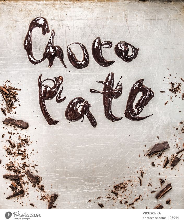 Old Beautiful Style Background picture Food photograph Brown Metal Glittering Design Nutrition Cooking & Baking Kitchen Candy Dessert Chocolate