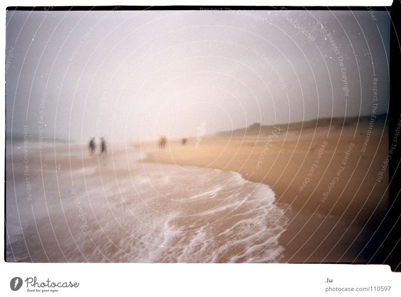 Water Ocean Beach Vacation & Travel Sand Rain Waves Coast Weather To go for a walk France Storm Atlantic Ocean Scan