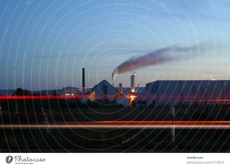 Autumn Industry Chimney Dusk Roadside Sugar refinery