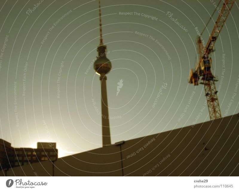 drive past Alexanderplatz Sunday Crane Landmark Culture Berlin Capital city Middle mudder city Berlin TV Tower alex Art Germany Cool (slang) Town