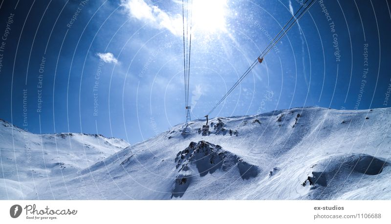 To The top Winter Snow Winter vacation Mountain Vacation & Travel Ischgl Colour photo Exterior shot Deserted Day Wide angle