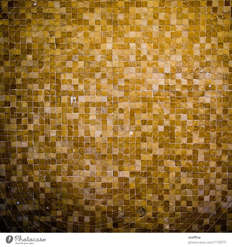 Tetris [Special Edition] Mosaic Pattern Square Checkered Brown Yellow Black Facade Wall (building) Wall (barrier) Structures and shapes Glittering Playing