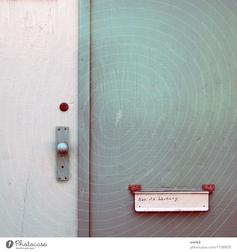 Background picture Glittering Door Characters Simple Turquoise Sharp-edged Clear Mailbox Thrifty Door lock Doorknob