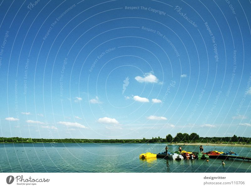 Water Sky Summer Vacation & Travel Calm Clouds Relaxation Lake Watercraft Sunbathing Pedalo
