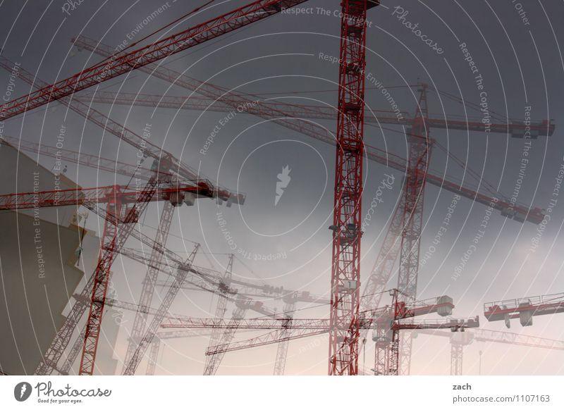 City Berlin Line Facade Dance Industry Construction site Skyline Chaos Economy Craft (trade) Crane Build