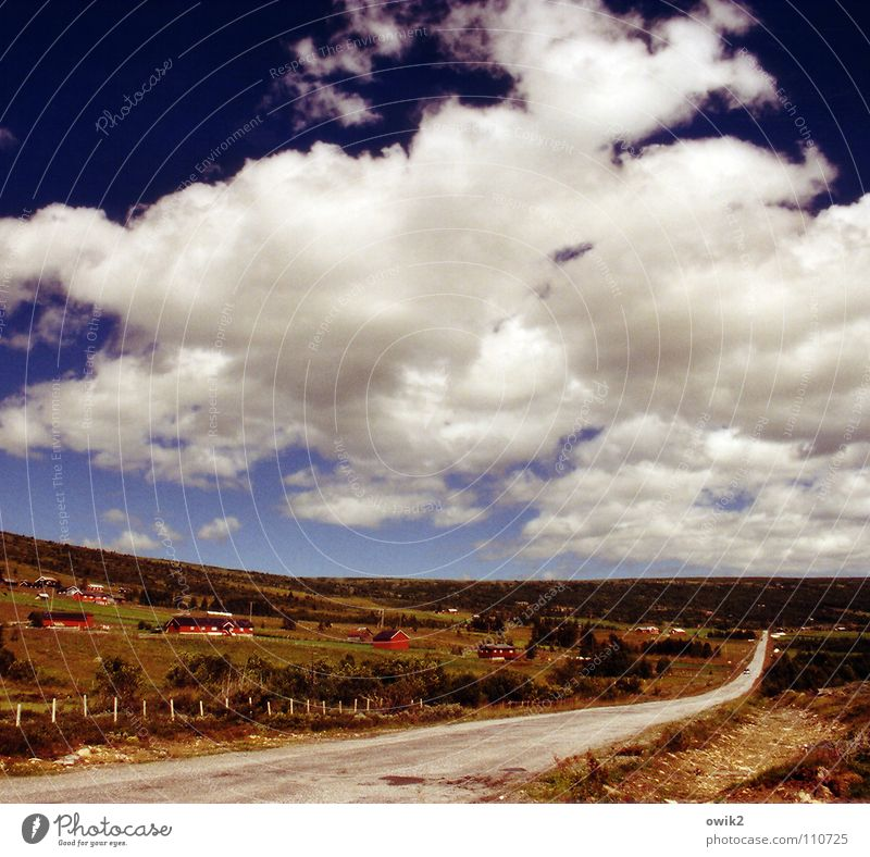 Sky Nature Landscape Clouds Far-off places Environment Street Freedom Horizon Transport Idyll Climate Beautiful weather Infinity Driving Traffic infrastructure