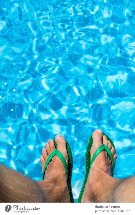 Ipanema Slippers Luxury Joy Swimming & Bathing Vacation & Travel Summer Summer vacation Sunbathing Swimming pool Human being Masculine Feet 1 Water Wet Blue