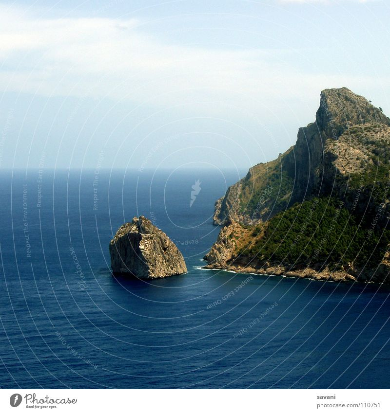 Cap Formentor in Mallorca Vacation & Travel Far-off places Freedom Beach Ocean Island Nature Landscape Water Sky Clouds Horizon Beautiful weather Wind Rock