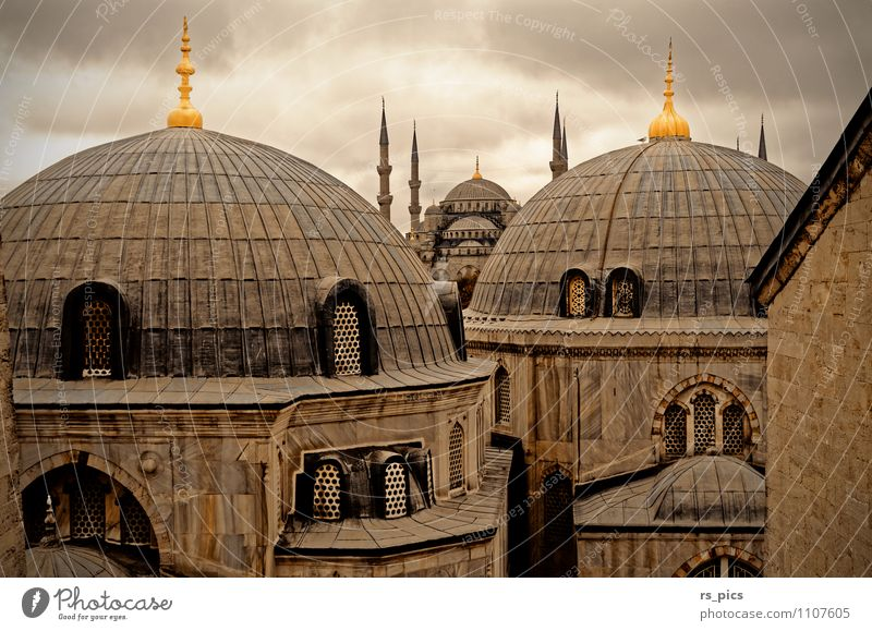 Istanbul's landmark Architecture Capital city Port City Downtown Old town Church Building Tourist Attraction Landmark Esthetic Colour photo Exterior shot