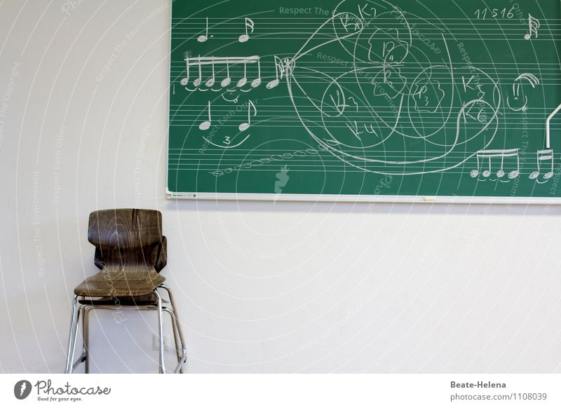 Green White Art School Brown Music Study Curiosity Chair Education Adult Education Blackboard Caution Smart Endurance Musical notes