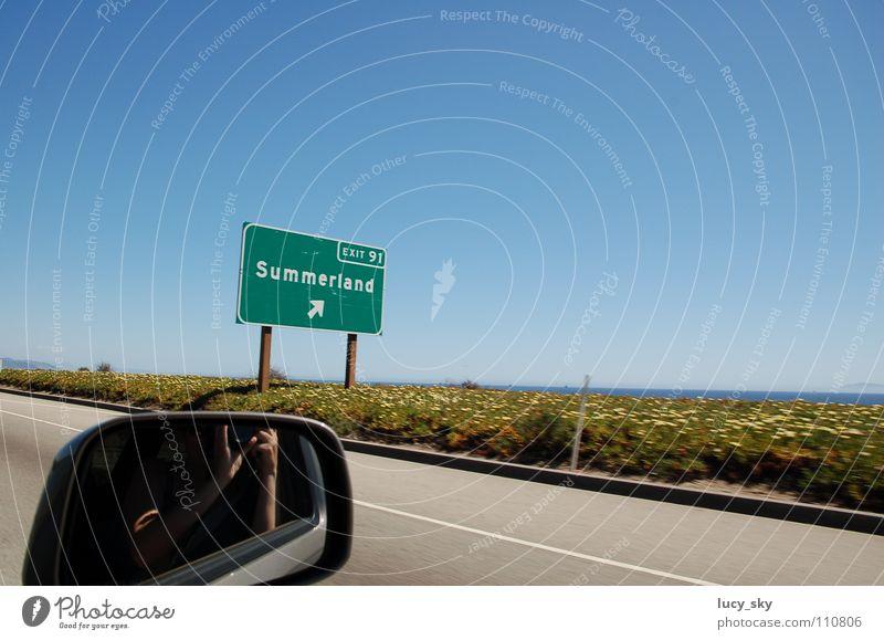 summerland Summer California Americas USA Highway Sky Car road trip