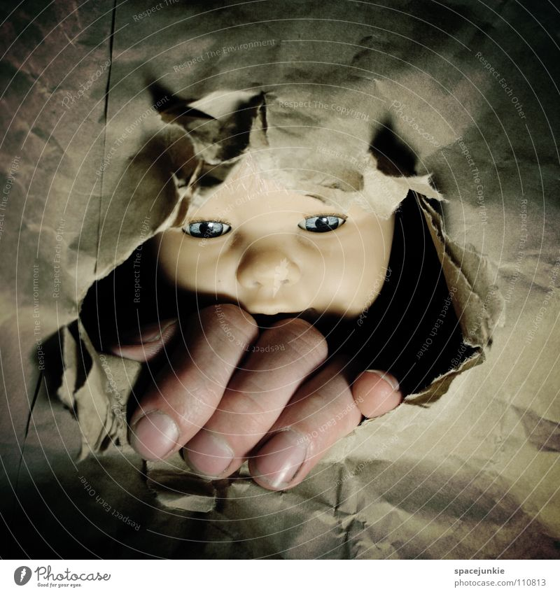 Hand Joy Face Freedom Paper Statue Doll Narrow Hollow Whimsical Escape Captured Cardboard To break (something) Bump Rip