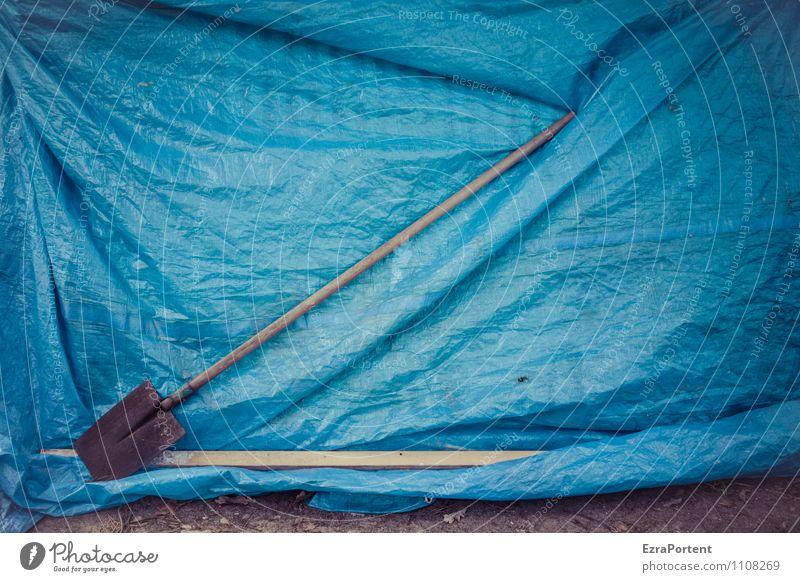 Nature Blue Colour Environment Garden Art Field Design Esthetic Individual Technology Break Plastic Wrinkles Diagonal Tool