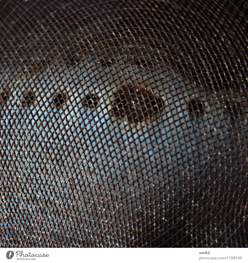 enterprise Metal Dark Simple Sieve Grating Pot Old Background picture Colour photo Close-up Detail Macro (Extreme close-up) Abstract Pattern