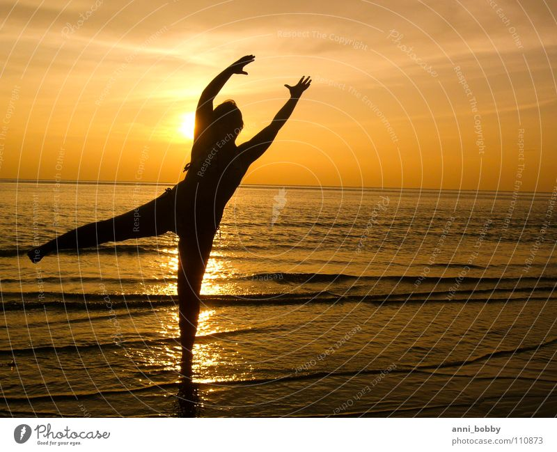 Woman Human being Water Beautiful Sky Ocean Summer Beach Calm Far-off places Movement Dream Sand Dance Waves Fantastic