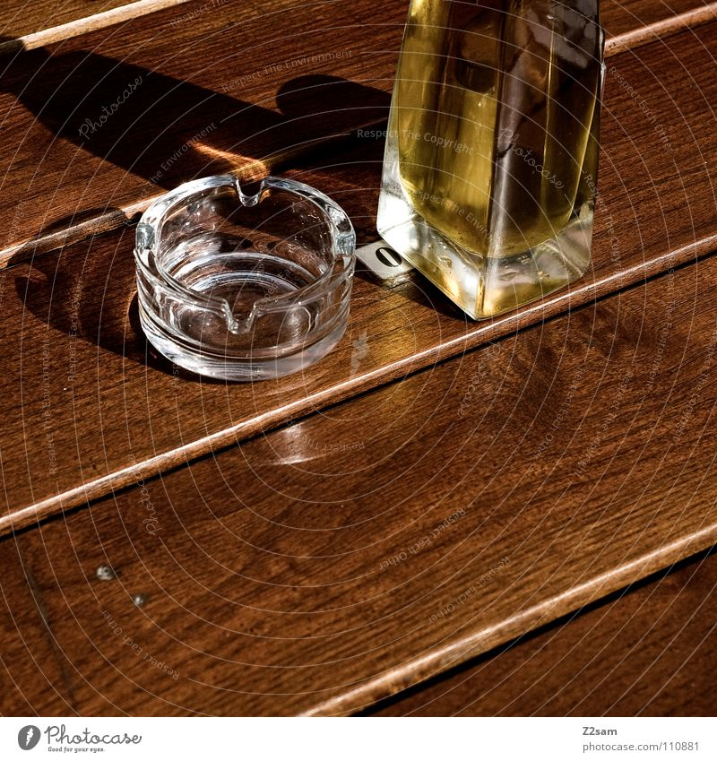 Yellow Nutrition Brown Glittering Glass Stand Middle Things Gastronomy Square Mug Graphic Cooking oil Wooden table Ashtray Table