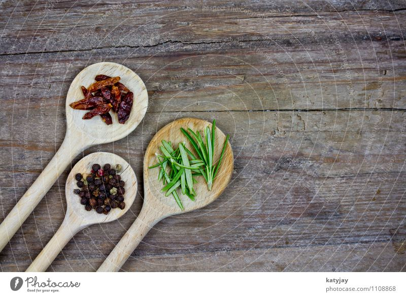 Healthy Eating Dish Food photograph Table Cooking & Baking Herbs and spices Kitchen Near Restaurant Food table Dried Wooden table Spoon Nut Aromatic