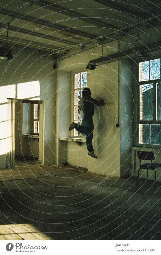 Wallcreeper 2 White Black Wall (building) Window Industry Autumn Art Culture Shadow Room Human being Running