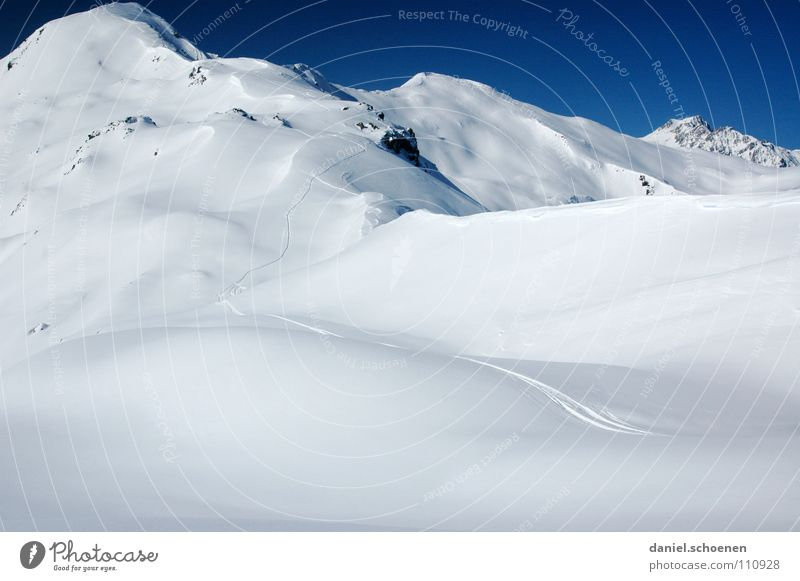 Snow!!!! White Background picture Powder Powder snow Deep snow Glacier Ski tour Peak Mountaineering Hiking Switzerland Winter Winter sports Tracks Endurance