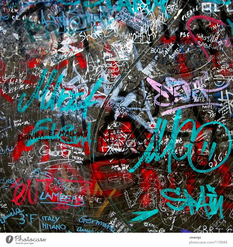 White City Red Black Colour Wall (building) Style Gray Graffiti Metal Art Design Signs and labeling Lifestyle Communicate Characters