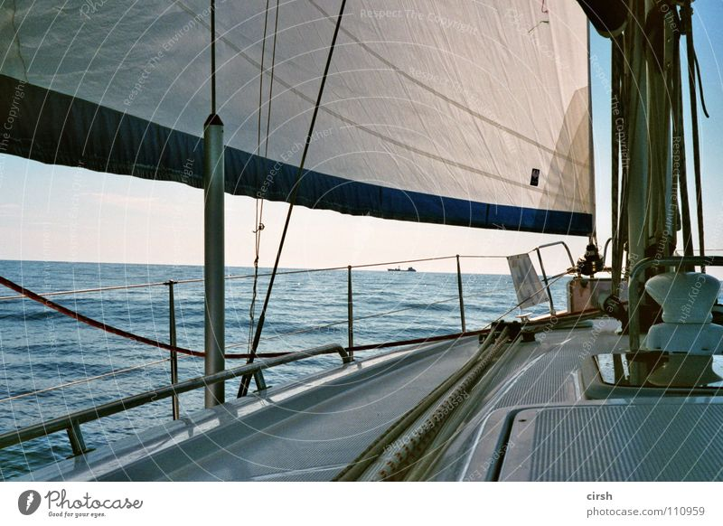 Water White Ocean Blue Summer Calm Relaxation Time Analog Serene Sailing Fat Beautiful weather Sailboat Flat