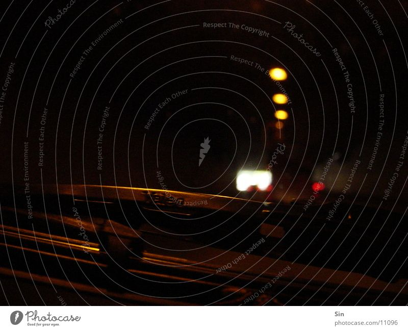 In the tunnel Dark Windscreen wiper Photographic technology Car Light
