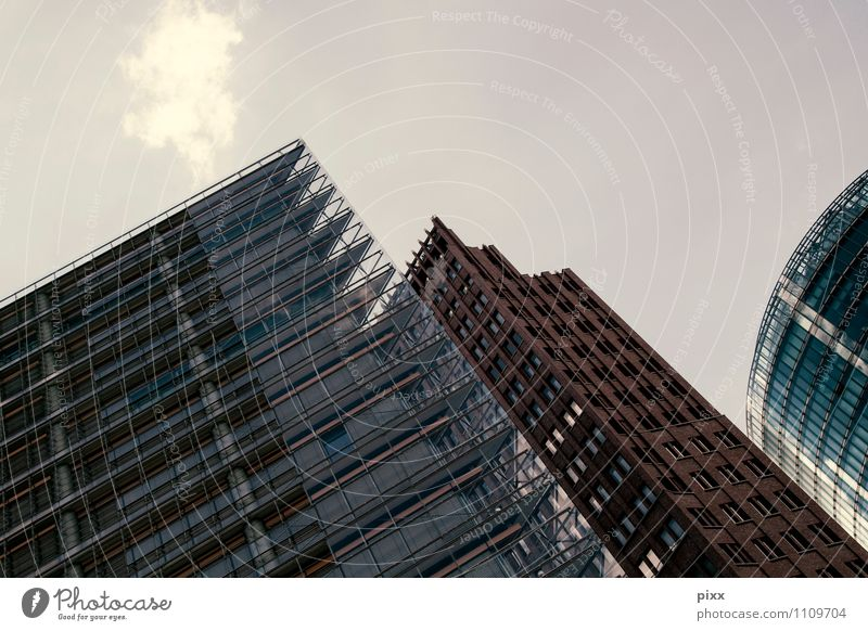 City Summer House (Residential Structure) Architecture Building Berlin Stone Germany Facade Glittering Work and employment Growth Office Glass High-rise