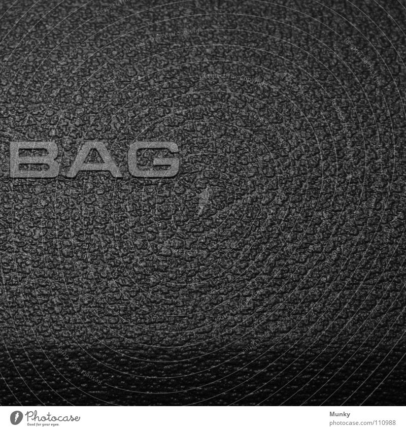 bag Air Airbag Gray Black Inscription Letters (alphabet) Safety Square Two-piece 2 Macro (Extreme close-up) Close-up Munky Car dashboard secure Shadow