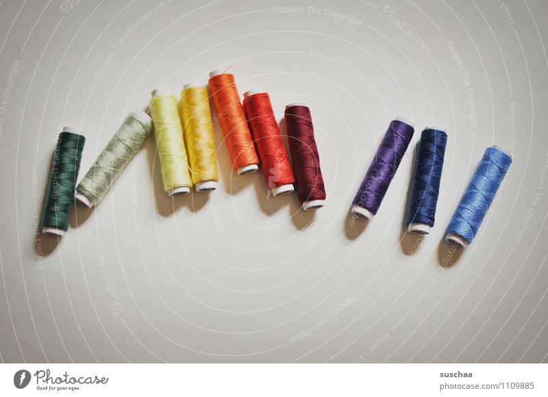 10-coloured Sewing thread Multicoloured Color gradient Coil roll Rolled Tailoring Handcrafts