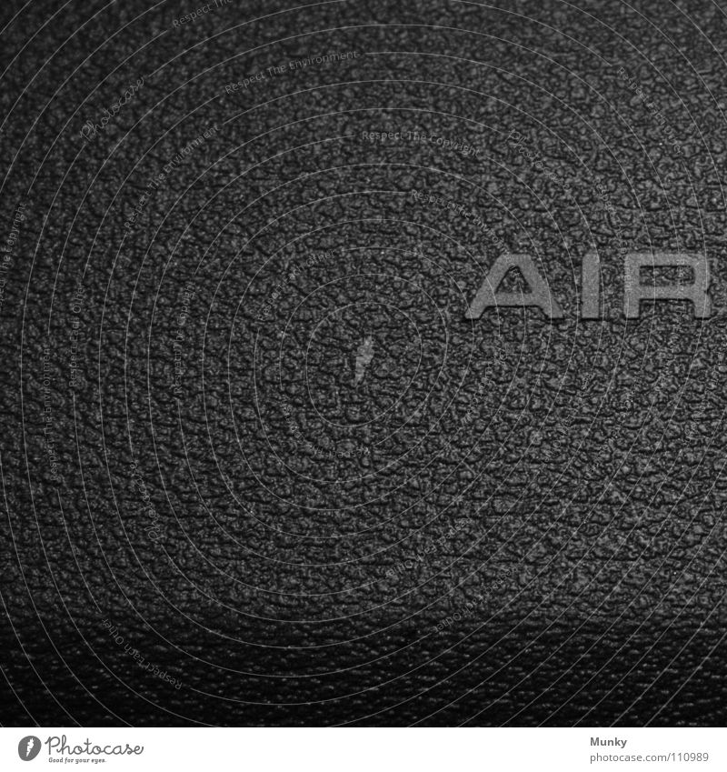 air Air Airbag Gray Black Inscription Letters (alphabet) Safety Square Two-piece 2 Macro (Extreme close-up) Close-up Munky Car dashboard secure Shadow