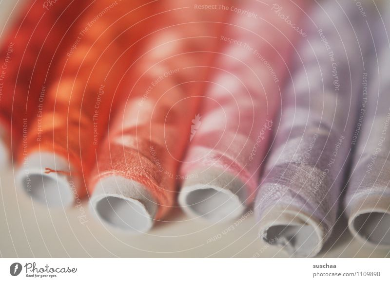 sky, ass and ... Sewing thread Coil roll Rolled Multicoloured Red Dry goods Tailoring