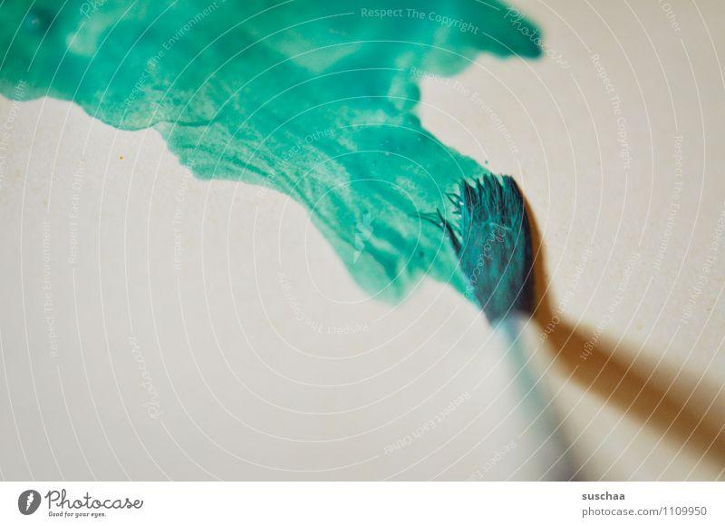 Blue Green Colour Painting (action, artwork) Paintbrush Watercolors Watercolor Brush stroke