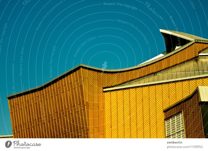 Sky Architecture Berlin Facade Gold Modern Culture Roof Manmade structures Cloudless sky Listening Capital city Concert Geometry Classical Rhythm