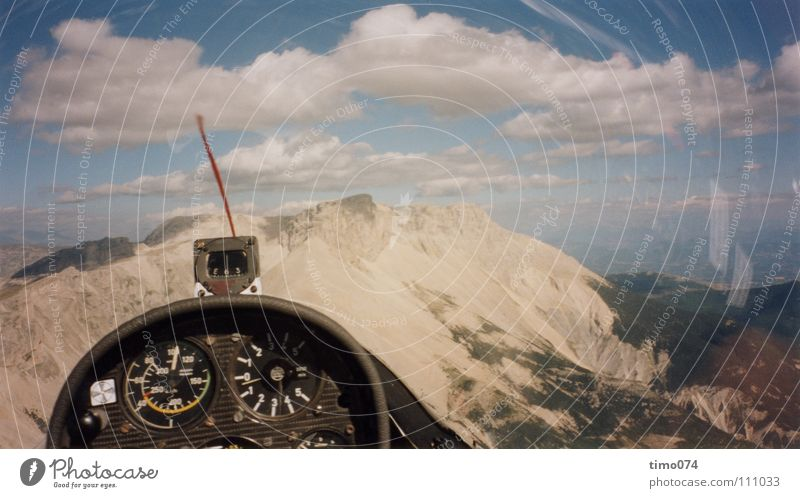 Sky Clouds Mountain Warmth Wind Aviation Level Vantage point To fall Sailing Go under Sewing thread Panorama (Format) Valley Pilot Compass (Navigation)