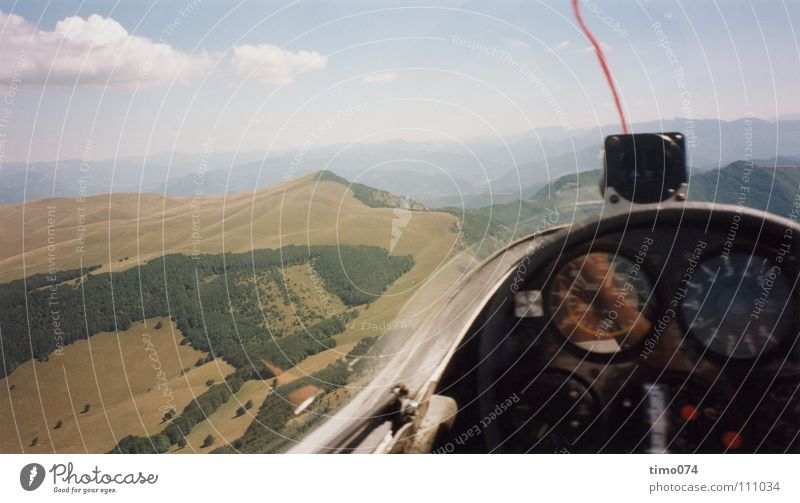 Sky Clouds Sports Playing Mountain Warmth Wind Aerial photograph Aviation Level Vantage point To fall Sailing Go under Sewing thread Panorama (Format)