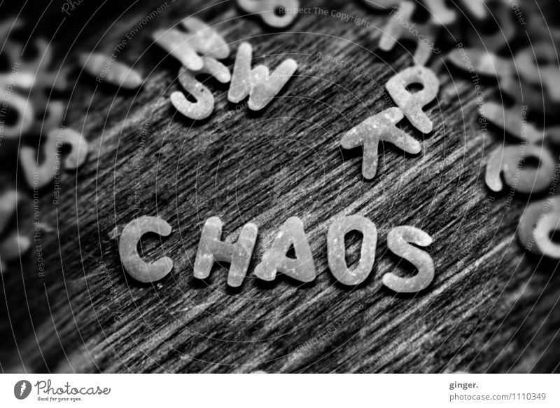 havoc Sign Chaos Noodles Letters (alphabet) Digits and numbers Muddled Word Lie Write Wood soup noodles Small Deposited Macro (Extreme close-up) Raw Reading