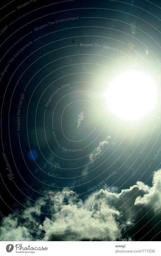Sky Sun Blue Summer Clouds Dark Bright Lighting Exceptional Thunder and lightning Storm Evil Surrealism False Flashy