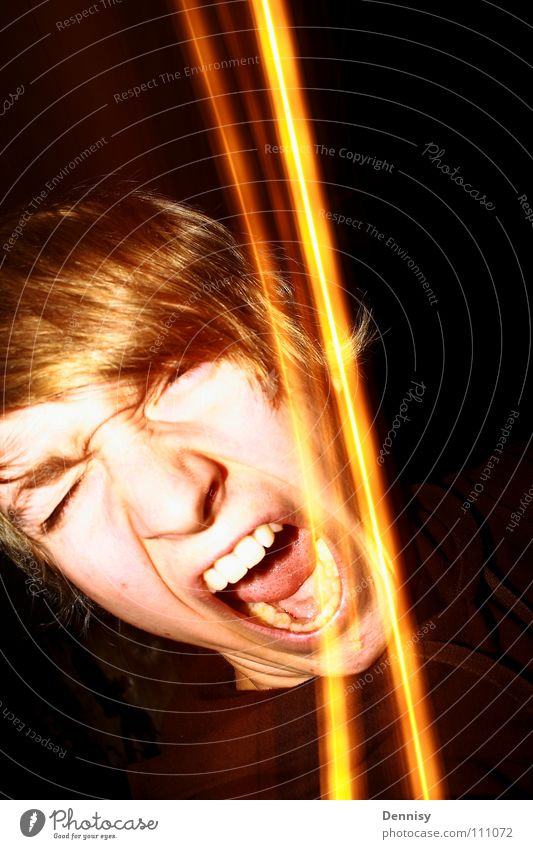 Lamp Dark Hair and hairstyles Anger Scream Aggravation