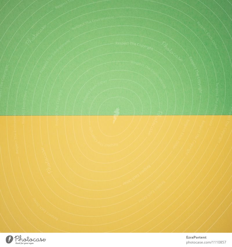 Green Colour Yellow Line Together Design Esthetic Paper Illustration Graphic Match