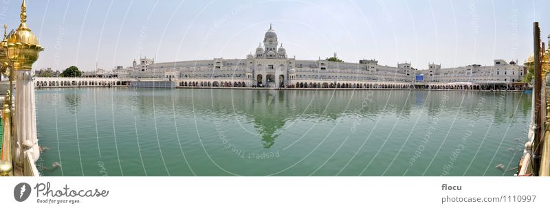 Sikh Golden Temple with pond, Amritsar, Punjab, India Vacation & Travel Architecture Building Religion and faith Lake Historic Symbols and metaphors