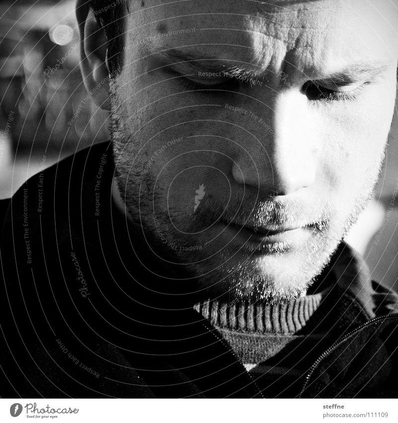 Man White Sun Face Calm Black Dark Relaxation Dream Think Bright Peace Fatigue Facial hair Thought Venice