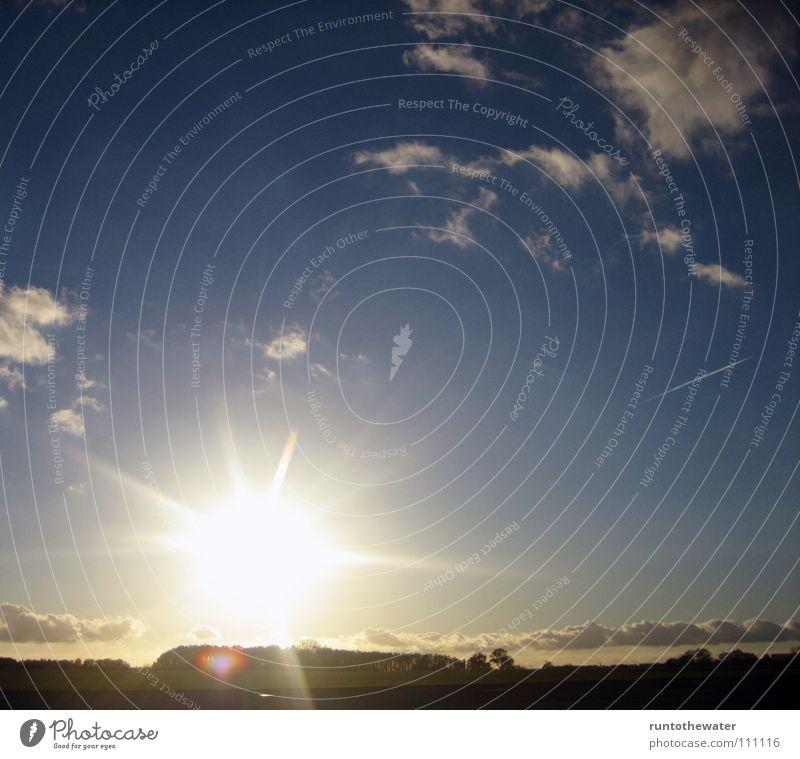 Sky Sun Happy Landscape Contentment Transport Driving Vantage point Highway Come Formation Raincloud