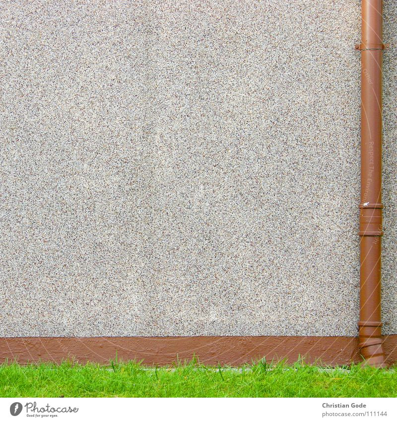 Green Meadow Wall (building) Brown Germany Pipe Traffic infrastructure Garage Settlement Front garden